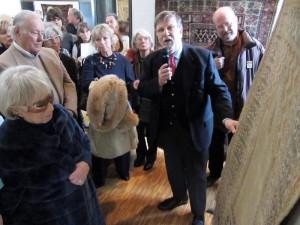 Alberto Boralevi inaugura mostra tappeti preghiera- foto Kevo.biz