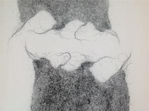 Cristiana Di Nardo, Contatto, monotipo da matrice in feltro.