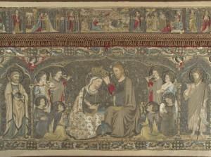 2)Paliotto d'altare ricamato per la chiesa di Santa Maria Novella da Jacopo Cambi: incoronazione della Vergine.