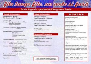 Programma Filo Lungo Filo ... 2016